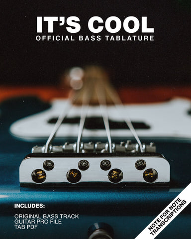It's Cool - Official Bass Tablature