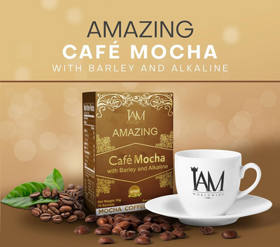 Amazing Cafe Mocha with Barley, Alkaline and Stevia