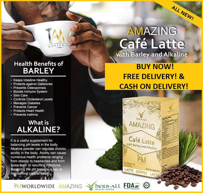 Amazing Cafe Latte with Barley, Alkaline and Stevia
