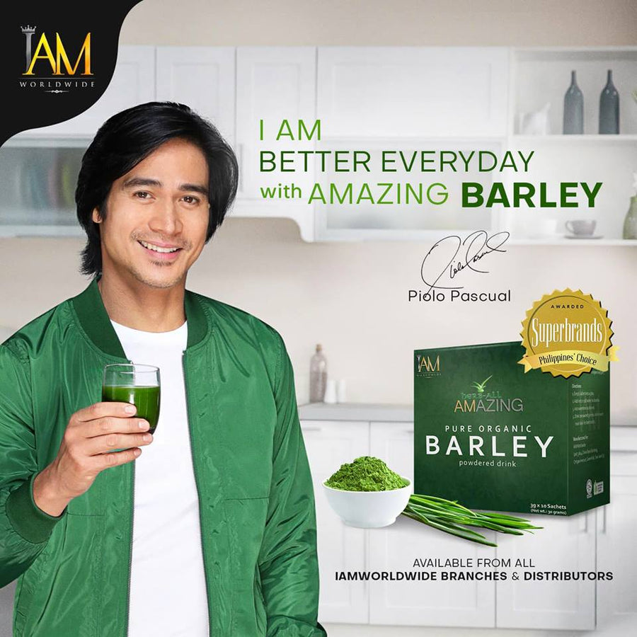 Amazing Pure Organic Barley Powdered Drink (1 Box - 10 Sachets)