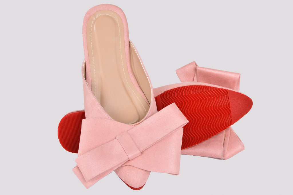 Rina Pointed Mules Peach