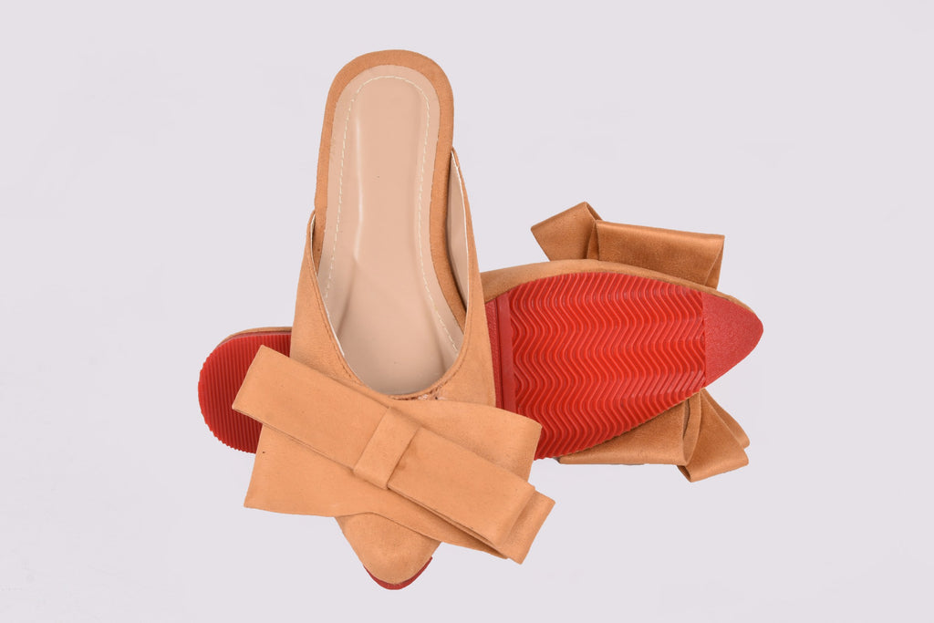Rina Pointed Mules Tan