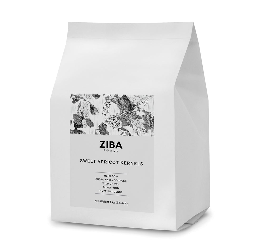 Sweet Apricot Kernels (Raw) - Ziba Foods - Heirloom Afghan Nuts and Dried Fruits