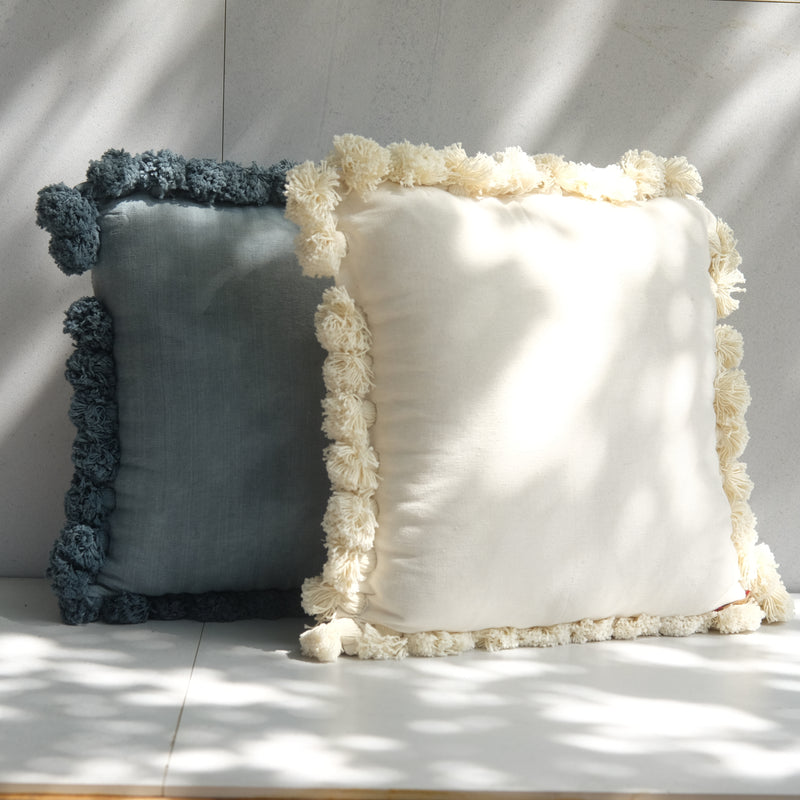 Washed Cushion White