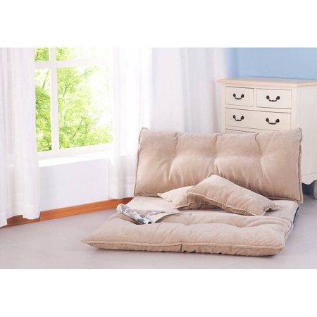 Super Merax Fabric Foldable Floor Sofa Bed Adjustable Futon With Two Pillows Guest Bed Alphanode Cool Chair Designs And Ideas Alphanodeonline