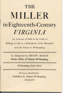 The Miller in Eighteenth-Century Virginia