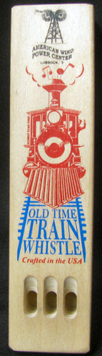 Old Time Wooden Train Whistle
