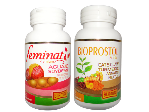All Natural Female Hormone Therapy - Feminat Premium + Bioprostol