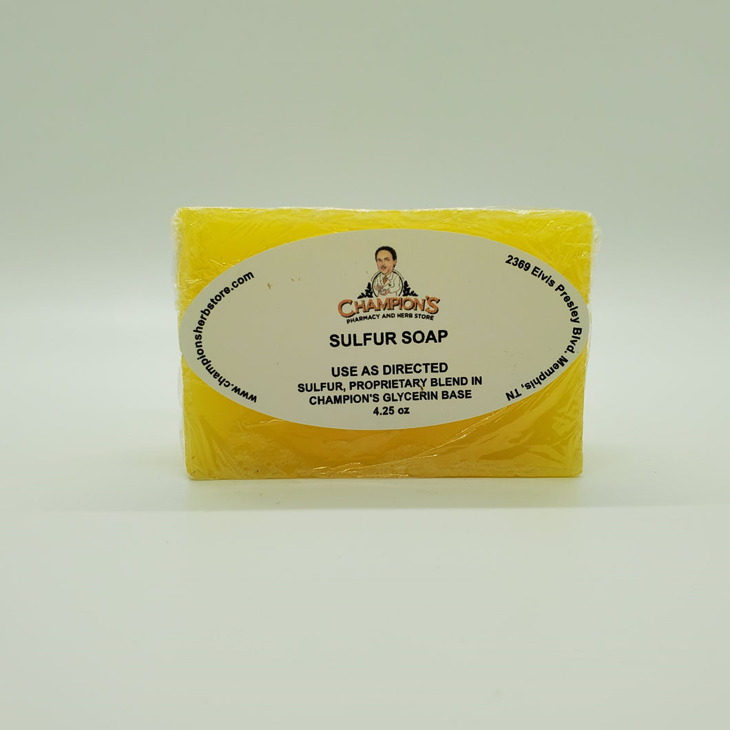 Champion's Sulfur Soap 4.25 oz