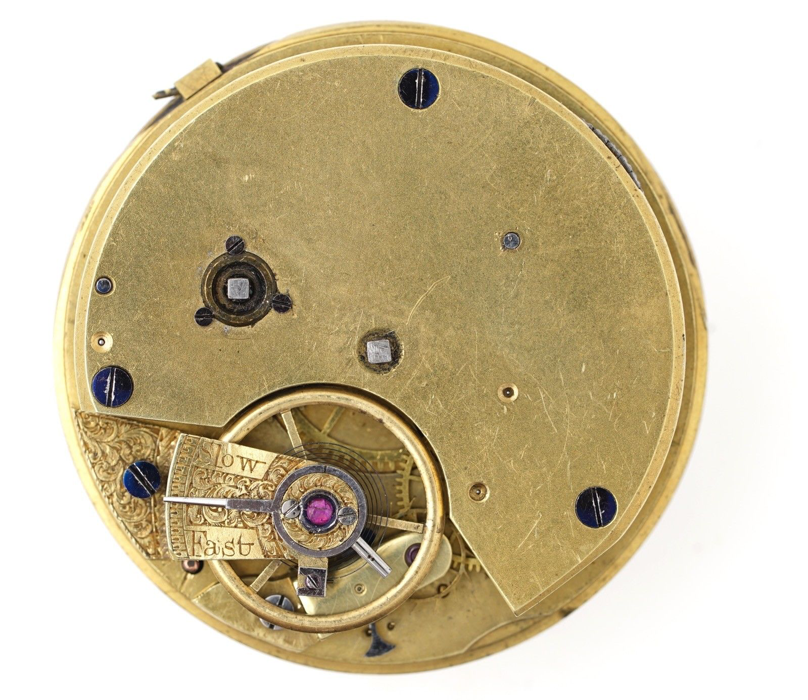 English Fusee Lever Pocket Watch Movement Spares Or Repairs Vv69