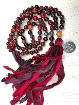 Root Chakra Mala Necklace * 108 Mala Beads * Muladahara Chakra Jewelry * Yoga Gift * Jewelry with Meaning * Meditation Beads