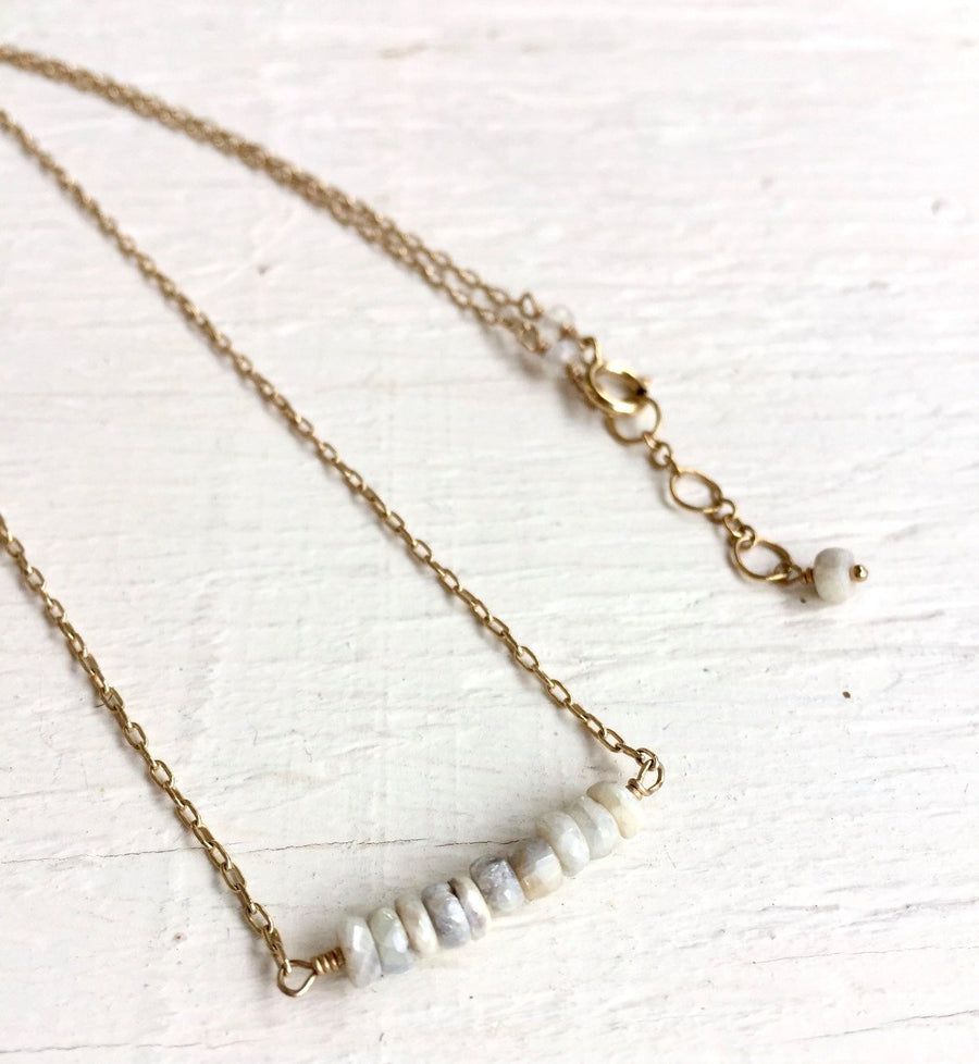 Raw Stalactite Necklace, Bar Necklace, Raw Stalactite, Bridal Gift, Holiday Present, Minimalist, Layered Necklace, Organic Jewelry