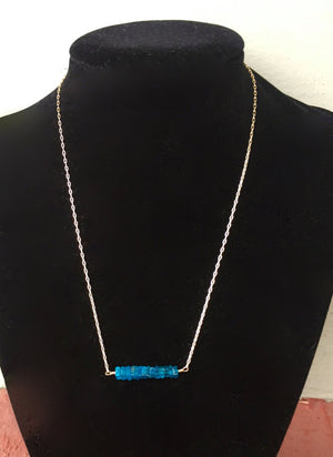 Neon Apatite Bar Necklace
