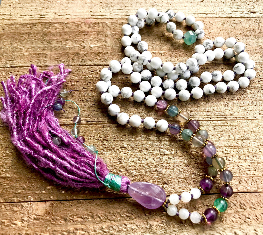 Goddess 108 Mala Necklace For Emotional Healing, Relaxation, Intuition and Enlightenment