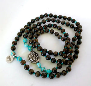 Divine Hero Mala Beads Featuring Hindu God Krishna for Inner Strength, Joy and Knowledge