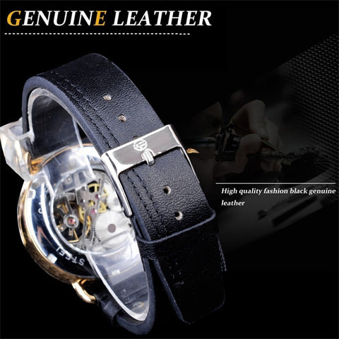 Image of Gleaming Titan Leather Watch - tickersnspecs