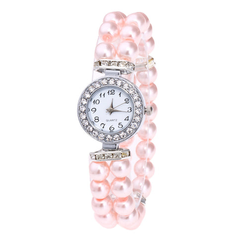 Image of Faux Pearl Bracelet Watch - tickersnspecs