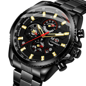 Champion Steel Mechanical Watch - tickersnspecs
