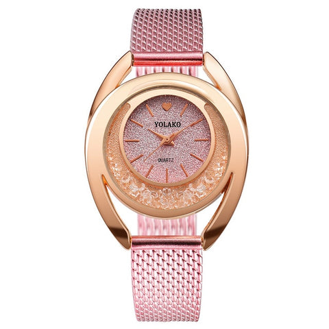 Elated Glamour Steel Watch - tickersnspecs