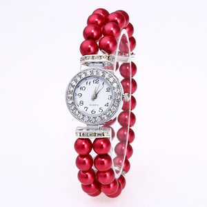 Faux Pearl Bracelet Watch - tickersnspecs