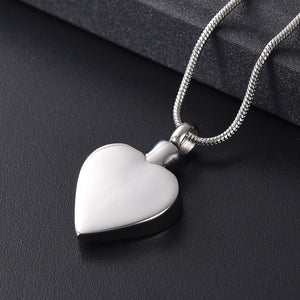 Crystal Paw Love Heart  Urn Pendant