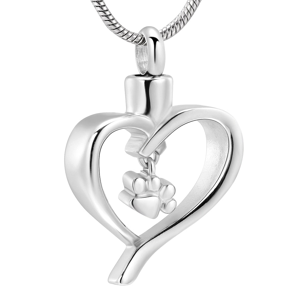 Paw In My Heart Pet Urn Pendant