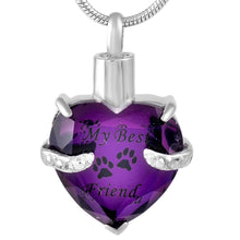 """My Best Friend"" Pet  Cremation Urn Pendant"