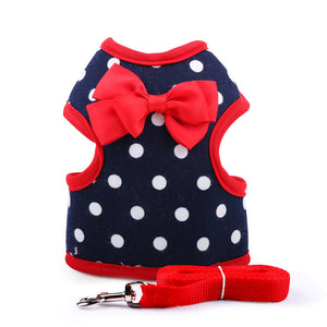 Cute dog and cat harness and leash sets