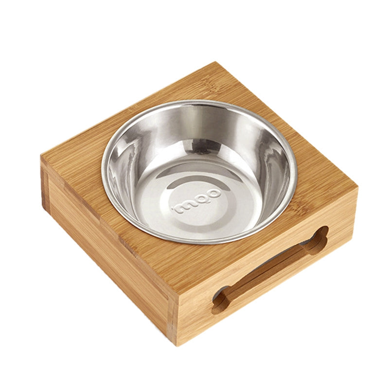Pet Bowl with Bamboo holder