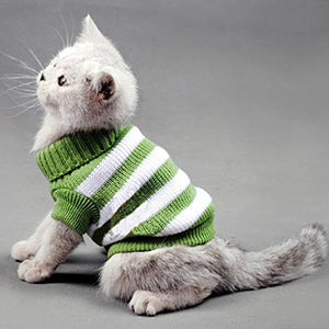 Striped sweaters for cats and small dogs