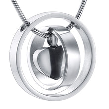 Circle of Mini Heart  Urn Pendant