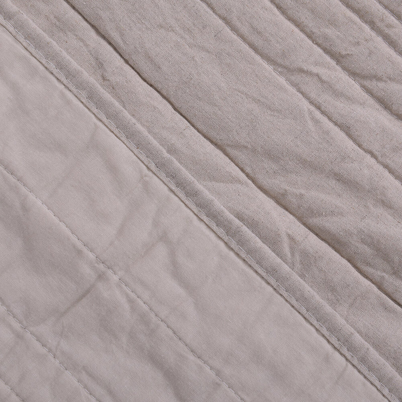 Cubrecama Quilt Lino King Natural
