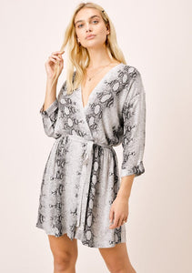 Annika Snake Print Wrap Dress
