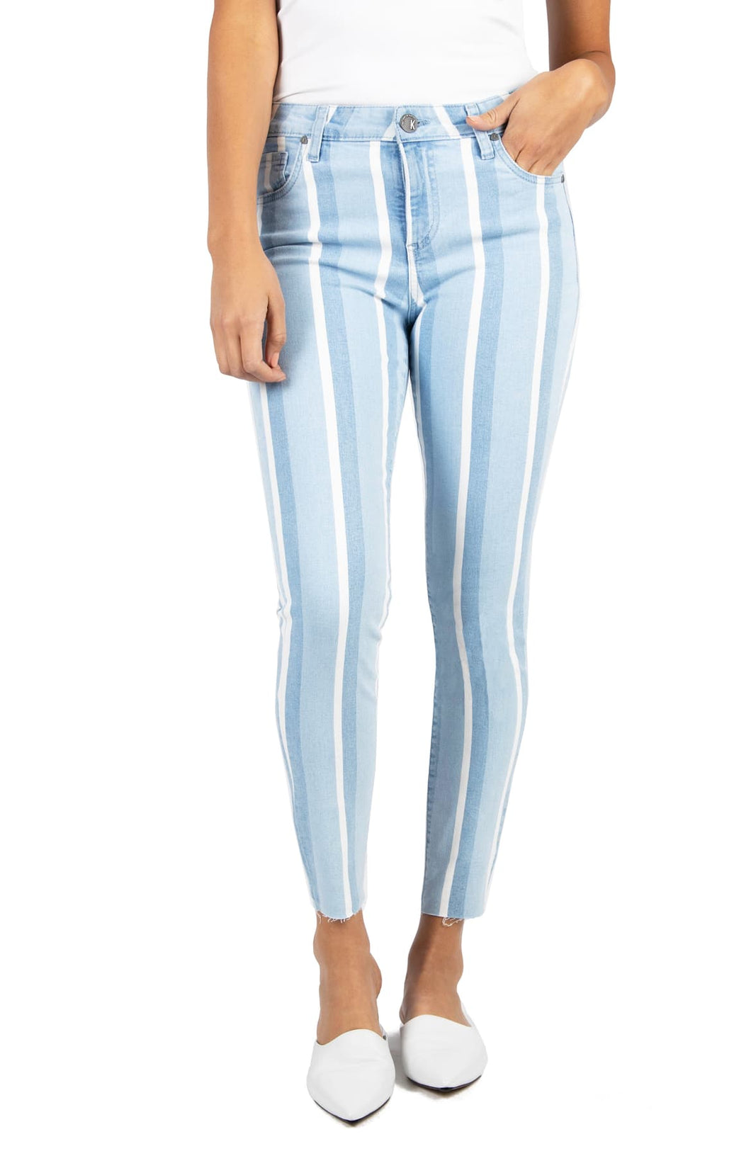 Striped Denim Skinnies