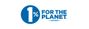 One percent for the Planet logo.