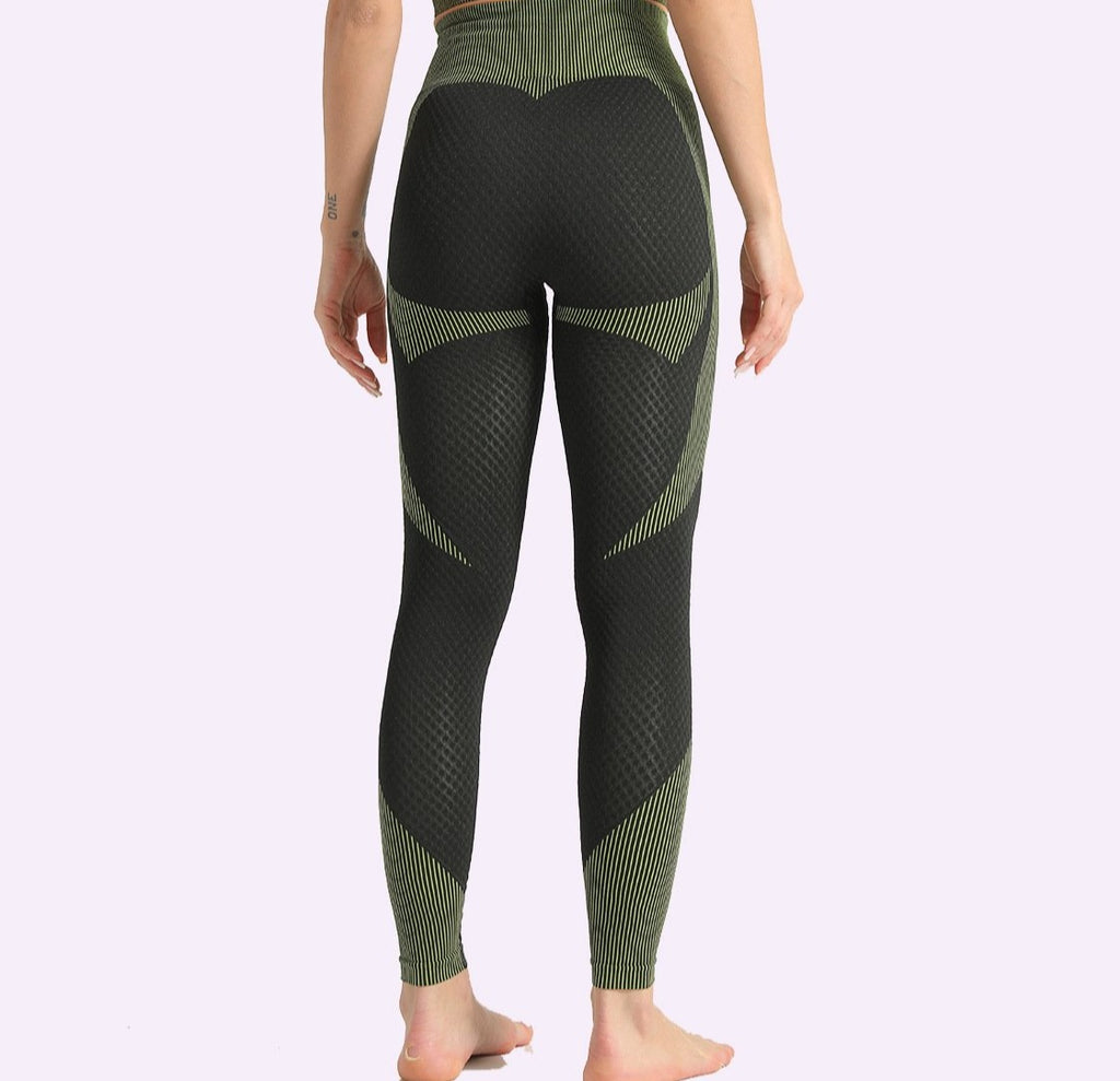 Yoga leggings Green/Black