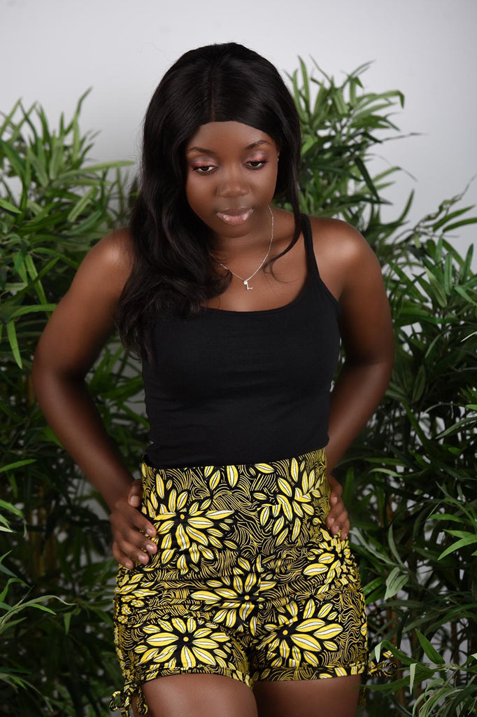 BanKola Ankara Spanish Oyster Yellow/Black Bum Short