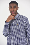 BanKola NAVY CHECK Long Sleeve Shirt