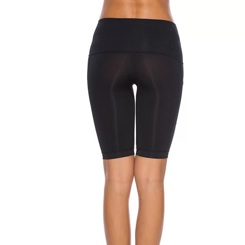 Yoga Shorts Tummy Control Stretch Workout Running Shorts with Pockets