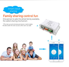 Smart Switch : 4 gang 10A with APP control Multi Purpose