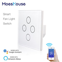 Smart Switch : Fan and Light Wall with app control