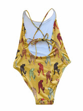 Load image into Gallery viewer, Cheetah Print One Piece in Mustard.