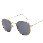 Black Lenses Sunglasses Gold Frame