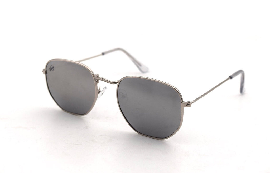 Dark Silver Reflective Sunglasses