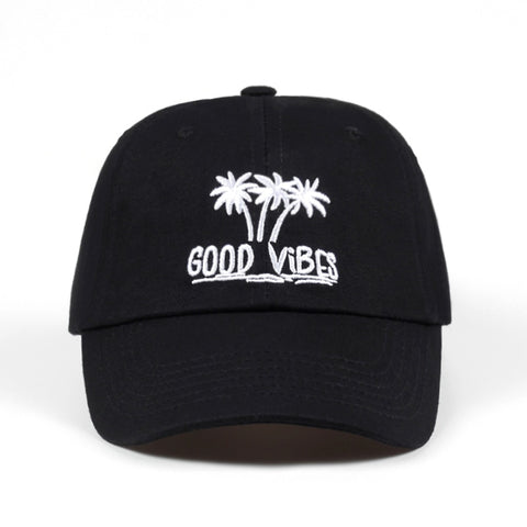 Good Vibes Palm Tree Baseball Caps