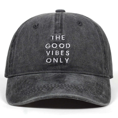 Good Vibes Only Embroidered Hat