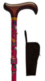 Red Floral Everyday Adjustable Walking Cane