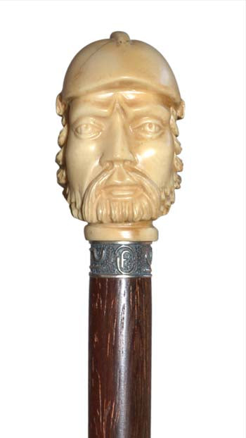 Ivory Warrior Walking Cane