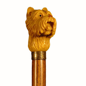 Cast Resin West Highland 'Westie' Head Collectable Walking Stick 37 inches