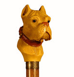 Cast Resin Bulldog Head Collectable Walking Stick 37 inches